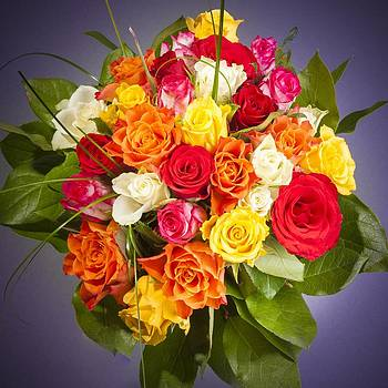 Colorful Bouquet of Flowers by Bjoern Kindler