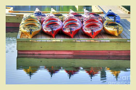 Colorful Kayaks by Brenda Giasson