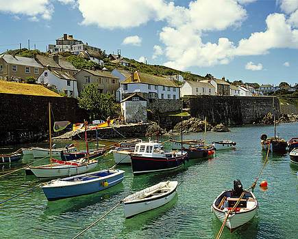 Coverack Harbour Cornwall UK 1990 by David Davies