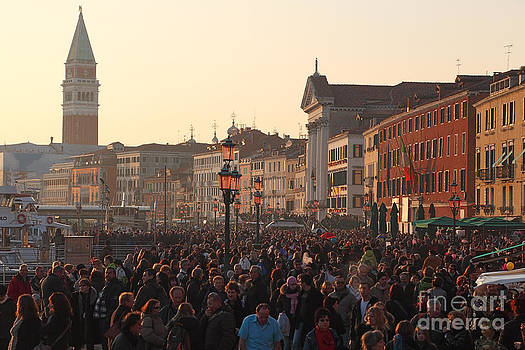 Crowd in Venice by Radu Razvan