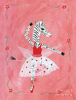 Custom Child's Zebra Ballerina by Kristi L Randall
