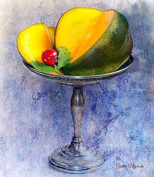 Gunter Nezhoda - Cut mango on sterling silver dish