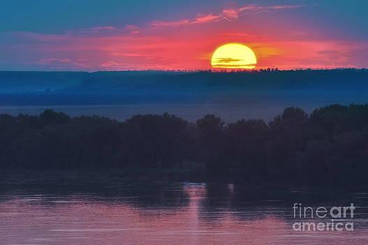 Danube River Sunset by Evmeniya Stankova