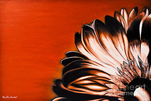 Dark Petal on Red by Rushdia Batool