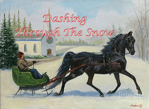 Dashing Through The Snow by Jeanne Newton Schoborg