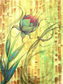 Dragonfly Bloom by Kristine Mueller Griffith