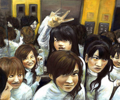 Elevator People People People by Vanessa Baladad