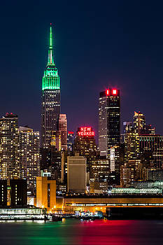 Empire State Building on Saint Patrick's Day by Mihai Andritoiu