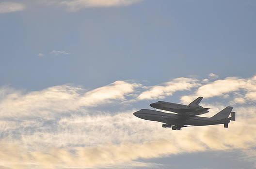 Endeavor Morning Flyover 1 by Russell Libonati