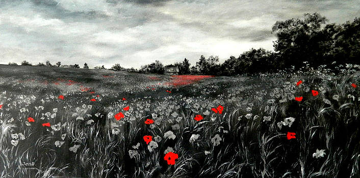 Field Of Rememberance by Jennifer  Blenkinsopp