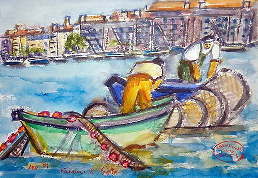 Fishermens At Sete France by Chevassus-agnes Jean-pierre