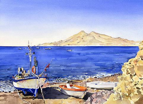 Fishing boats at La Isleta by Margaret Merry
