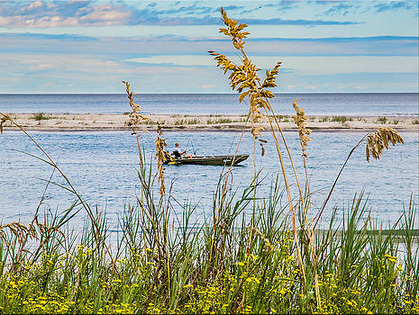 Fishing in Pawleys Island Inlet by Mike Covington