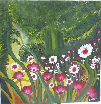 Floral On Canvas by Shalini Goyal