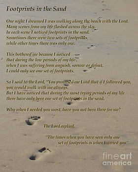 Footprints in the Sand Poem by Bob Sample