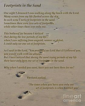 Bob Sample - Footprints in the Sand Poem