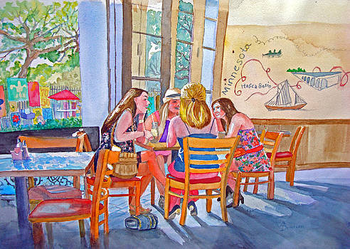 French Quarter Visitors by AnnE Dentler