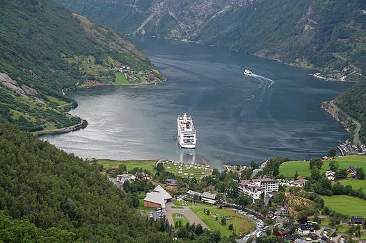 Geiranger Fjord Norway by James Gordon Patterson