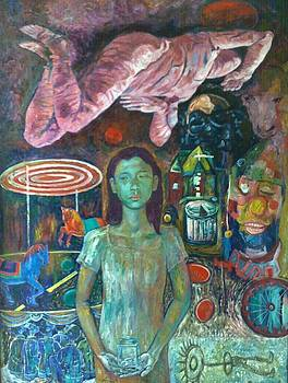 Girl With Glass Jar by Edwin Jumalon
