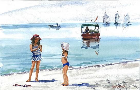 Girls at the sea by Irina Alexandrina