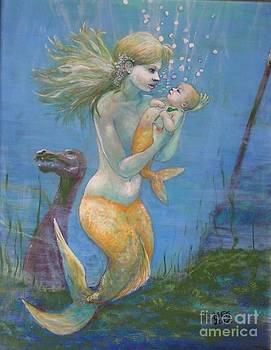 Golden mermaid lullaby by Maria Elena Gonzalez