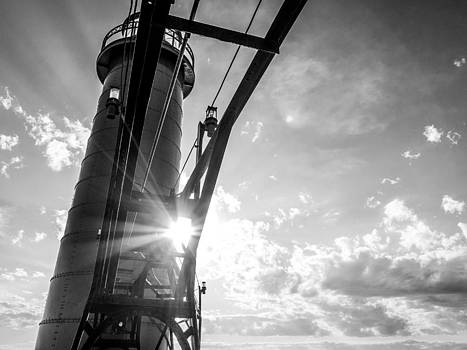 Grand Haven Beacon at Sunset by Kirsten Dykstra