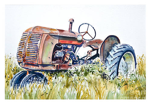 Grandpa's Co-Op Tractor by Rick Mock