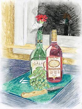 Grapes n Flowers by Susan Schmitz
