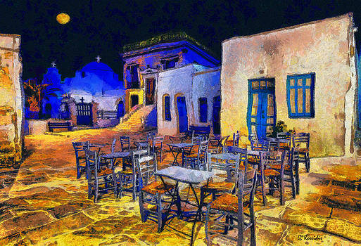 Greek village II by George Rossidis