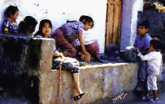 Guatemalan Children Gathered by Elizabeth Iglesias