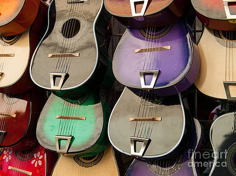Guitars on Olvera Street by Lee Roth