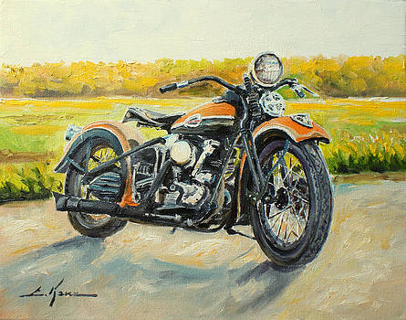 Harley Davidson 1946 by Luke Karcz