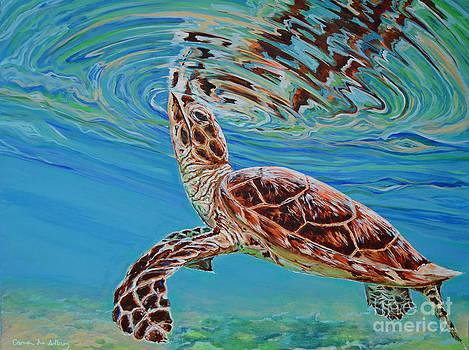 Green Turtle by Paola Correa de Albury