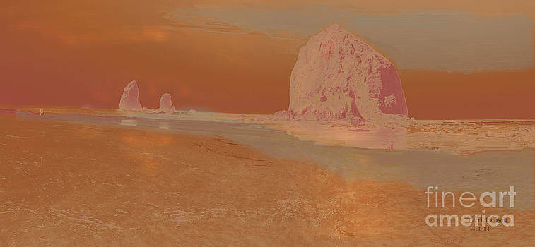 Haystack Rock by Terri Johnson