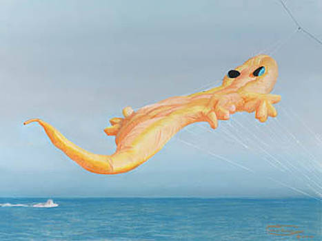 High Flying Gecko by Carol Thompson