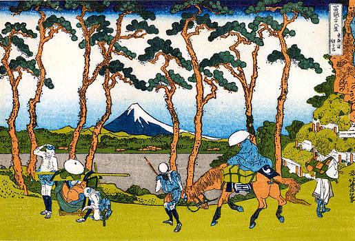 Hodogoya On The Tokaido by Katsushika Hokusai