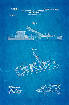 Ian Monk - Howell and Chamberlain French-Fry Potato Cutter Patent Art 1900 Blueprint