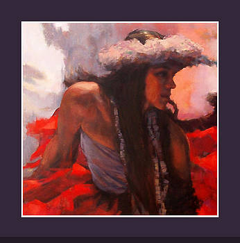 Hula with red by Rod Cameron