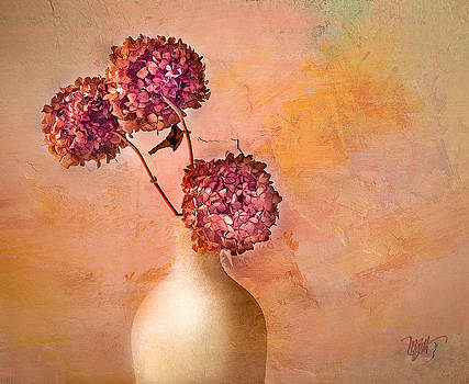 Hydrangeas In Vase by Michael Petrizzo