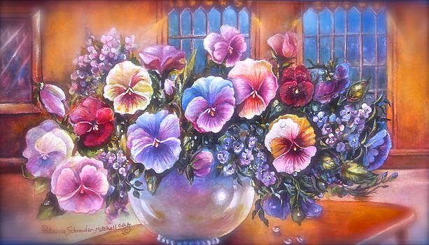 Patricia Schneider Mitchell - Icicle pansies