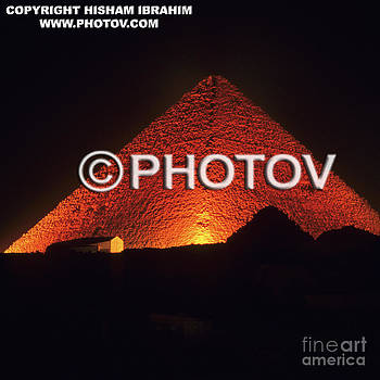 Illuminated Pyramid - Egypt  by Hisham Ibrahim