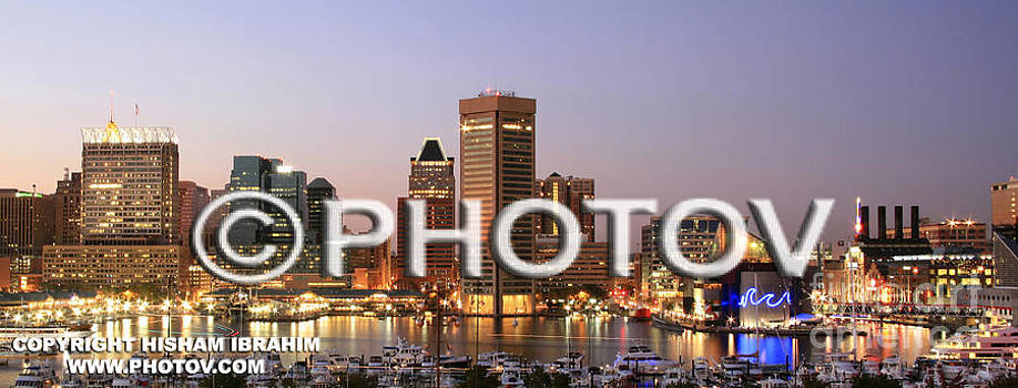 Inner Harbor and Baltimore skyline - Maryland - Limited Edition by Hisham Ibrahim