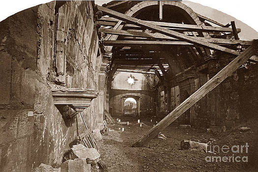 California Views Mr Pat Hathaway Archives - Interior of Old Mission Church at Carmel Mission California  circa 1880