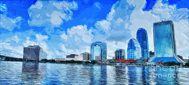 Jacksonville business district by Ules Barnwell