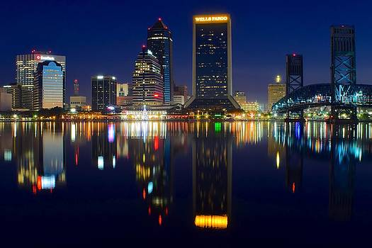 Frozen in Time Fine Art Photography - Jacksonville Over the St Johns River