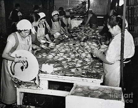 California Views Mr Pat Hathaway Archives - Japanese ladies Pounding Abalone Monterey California circa 1939
