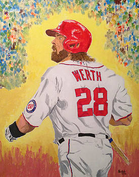 Jayson Werth Game Four by Paul Nichols