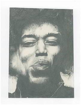 Jimi Hendrix by Gabriel  Palcic