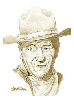 John Wayne by David Iglesias