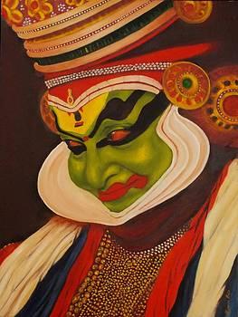 Kathakali Painting by Kishor Raja